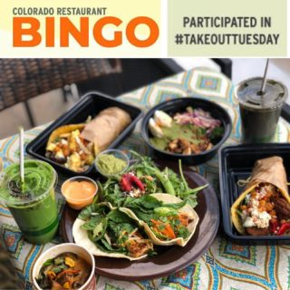 Get your #takeouttuesday on with #corestaurantbingo and be entered to win prizes like gift cards, trips, and lots more! How?Take out from somewhere delish like @vitalrootden, take a photo, then tag them and @corestaurants with the #corestaurantbingo hashtag. See link in bio for 4 cards to play & more deets. #supportlocal #supportsmallbusiness #corestaurants #milehigheats #denvercolorado #5280eats