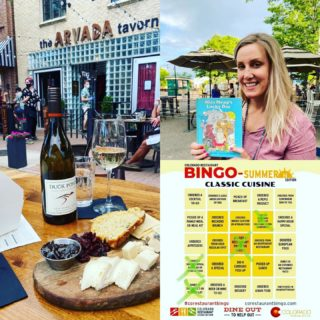 "Playing at #corestaurantbingo and this square was ""Dined in the Street or Parking Lot"" and thearvadatavern had a beautiful setup on a gorgeous night in oldetownarvadaco! And, with the ED of imaginationlibrary as a bonus!"