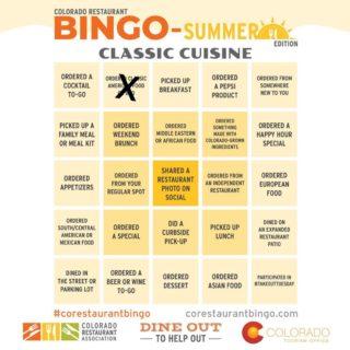Hey corestaurants I played #corestaurantbingo with gquebbq in Lone Treeً - #delicious! #bingo
